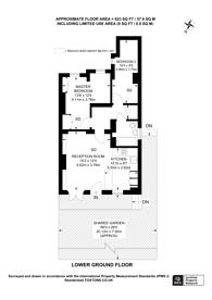 Large floorplan for Bridge Approach, Primrose Hill, NW1