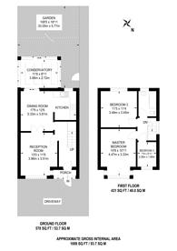 Large floorplan for Largewood Avenue, Surbiton, KT6