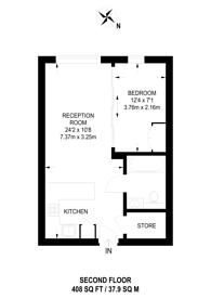 Large floorplan for Octavia House, Fulham, Fulham, SW6