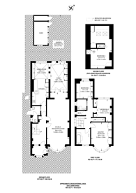 Large floorplan for Sneath Avenue, Golders Green, NW11