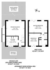 Large floorplan for Rokeby Street, Stratford, E15