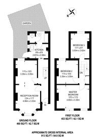 Large floorplan for Khama Road, Tooting Broadway, SW17