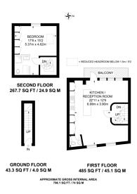 Large floorplan for Ezra Street, Shoreditch, E2