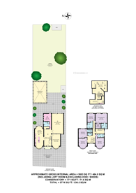 Large floorplan for Aylestone Avenue, Brondesbury, NW6