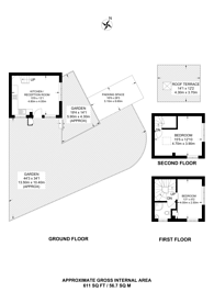 Large floorplan for St Peter's Close, Wandsworth Common, SW17
