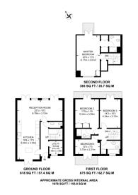 Large floorplan for Princess Mary Close, Queen Elizabeth Park, GU2