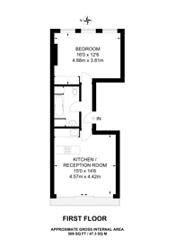 Large floorplan for Curtain Road, Shoreditch, EC2A