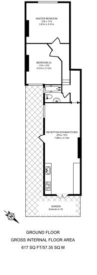 Large floorplan for Denman Road, Peckham, SE15