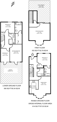 Large floorplan for Hill Gate Walk, Highgate, N6