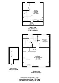 Large floorplan for Herne Hill Road, Brixton, SE24
