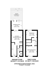 Large floorplan for Earl Close, Friern Barnet, N11