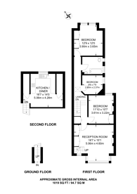 Large floorplan for Drayton Road, Harlesden, NW10