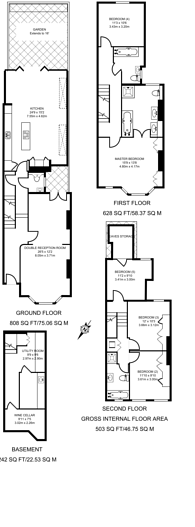 Large floorplan for Clancarty Road, Fulham, SW6