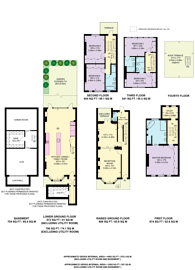 Large floorplan for St Lukes Road, Notting Hill, W11