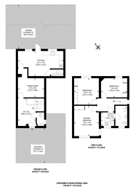Large floorplan for .Barn Hill, Wembley Park, HA9