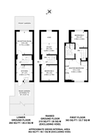Large floorplan for Tollington Park, Stroud Green, N4
