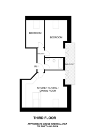 Large floorplan for Grove Road, Sutton, SM1