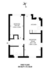 Large floorplan for Elbe Street, Sands End, SW6