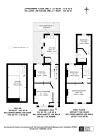 Large floorplan for Gathorne Road, Wood Green, N22