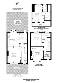 Large floorplan for Foxley Road, Thornton Heath, CR7