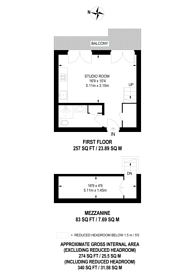 Large floorplan for Hereford Road, Notting Hill, W2