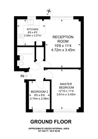 Large floorplan for Aylesbury Close, Forest Gate, E7