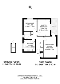 Large floorplan for Lowe Avenue, Canning Town, E16