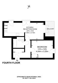 Large floorplan for Newton Court, Axio Way, Bow, E3