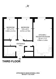 Large floorplan for Victoria Road, W3, Acton, W3