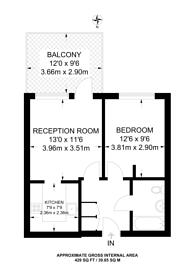 Large floorplan for Uxbridge Road, West Ealing, W13