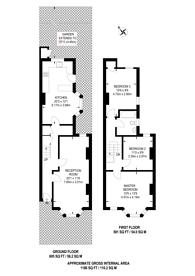 Large floorplan for Ethnard Road, Peckham, SE15