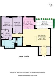 Large floorplan for Ingestre Place, Soho, W1F