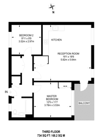 Large floorplan for Drum Makers House, Canary Wharf, E14