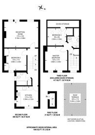 Large floorplan for Saltram Crescent, Maida Vale, W9