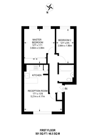 Large floorplan for Geneva Drive, Brixton, SW9