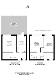 Large floorplan for Bircham Path, Brockley, SE4