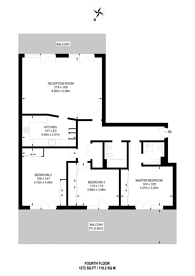 Large floorplan for Agate Close, West Twyford, NW10