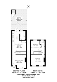 Large floorplan for St Annes Road, Wembley, HA0