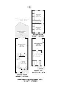 Large floorplan for Wolsey Road, Islington, N1