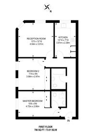 Large floorplan for Bruce Road, Tooting Graveney, CR4