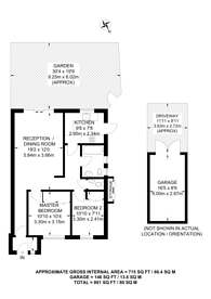 Large floorplan for Woodberry Gardens, North Finchley, N12