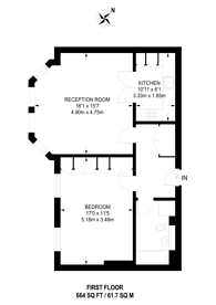 Large floorplan for Westfield Lodge, Hampstead, NW3