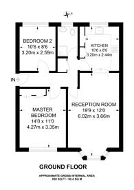 Large floorplan for Grosvenor Court, Burpham, GU4