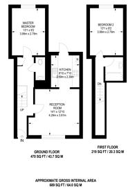 Large floorplan for Fenwick Road, Peckham Rye, SE15