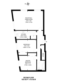 Large floorplan for Moscow Road, Queensway, W2