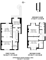 Large floorplan for Park Avenue, Bounds Green, N22