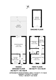 Large floorplan for Oakdale Way, Sutton, CR4