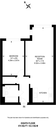 Large floorplan for Empire Square West, Borough, SE1