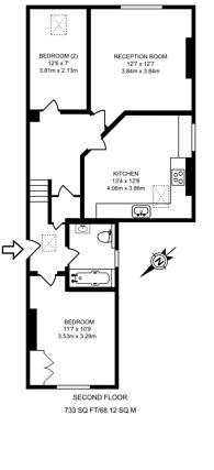 Large floorplan for Norwood Road, Tulse Hill, SE24