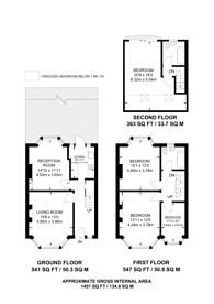 Large floorplan for Broomfield Avenue, Palmers Green, N13